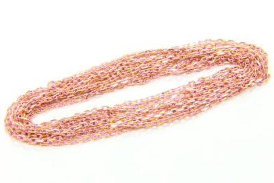 Soft Pink Shimmer Link Chain
