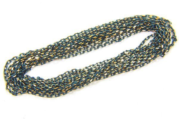Forest Green Shimmer Link Chain