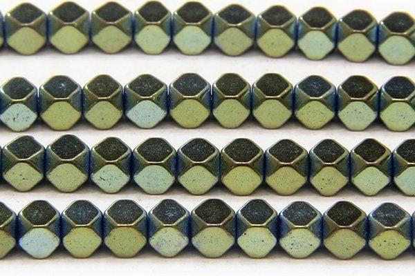 Bluegrass 3mm Facetted Hematite Cubes