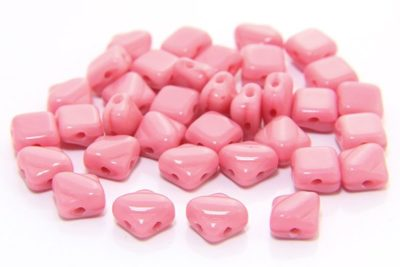 Opaque Cherry Blossom Czech Silky Beads