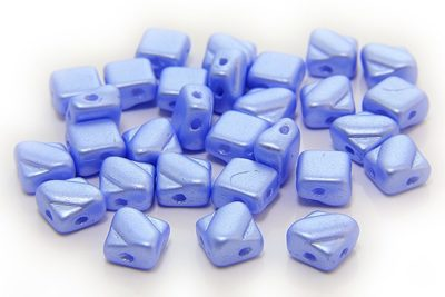 Satined Pastel Blue Czech Silky Beads