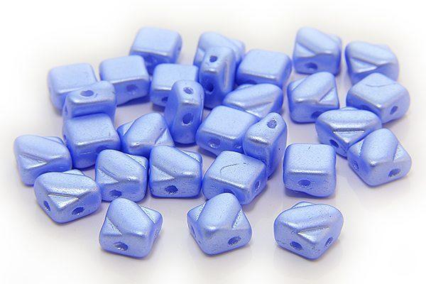 Satined Pastel Blue Czech Silky Beads