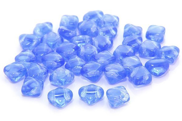 Transparent French Blue Czech Silky Beads