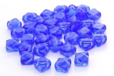 Transparent Sapphire Czech Silky Beads
