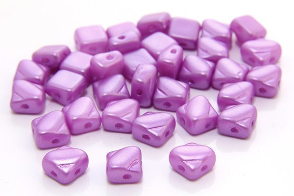 Satined Lilac Czech Silky Beads
