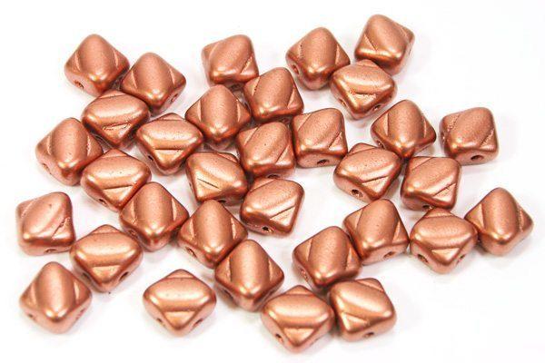 Satined Bronze Czech Silky Beads