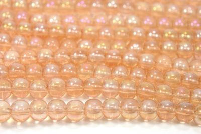 Rose Gold AB 4mm Aurora Bead
