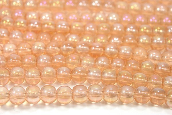 Rose Gold AB 4mm Aurora Bead