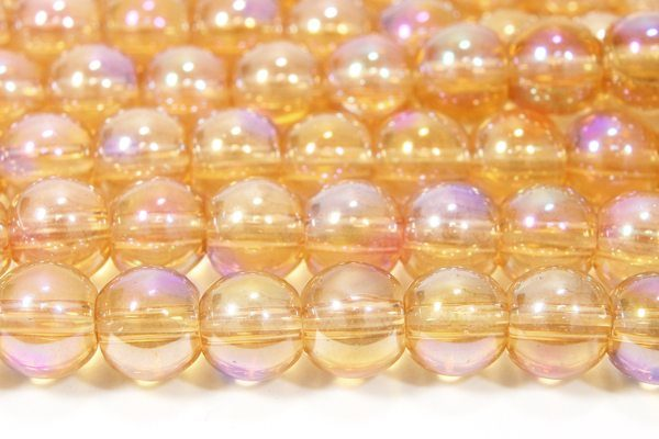Amber Violet AB 4mm Aurora Bead