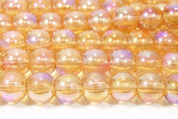 Amber Violet 6mm Aurora Bead