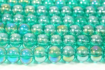 Teal AB 4mm Aurora Bead