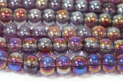 Amethyst AB 4mm Aurora Bead