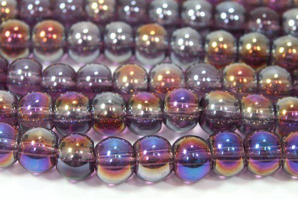 Amethyst AB 6mm Aurora Bead