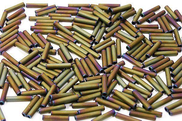 Matte Purple Gold Iris Toho Bugle Beads
