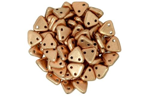 Satin Copper 2-Hole Triangle Beads