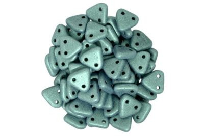 Satin Moss Green 2-Hole Triangle Beads