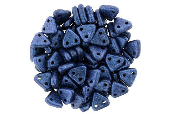 Satin Royal Blue 2-Hole Triangle Beads