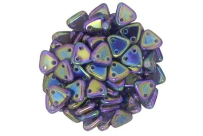 Iris Purple 2-Hole Triangle Beads