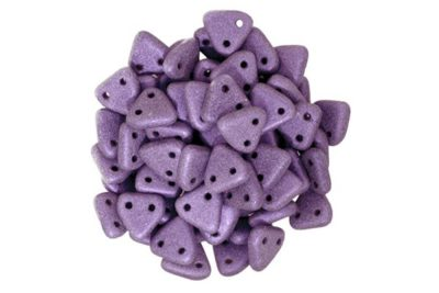 Satin Violet 2-Hole Triangle Beads