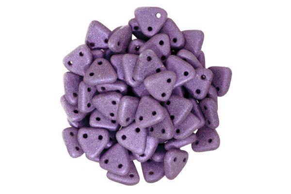 Satin Violet 2-Hole Triangle Beads