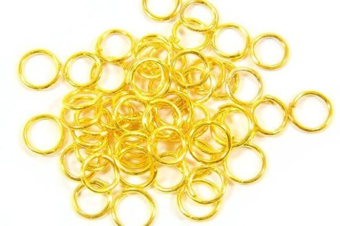 6mm Gold Jump Rings