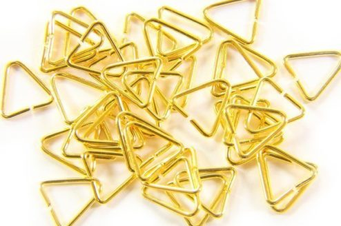 6x8mm Gold Triangle Rings