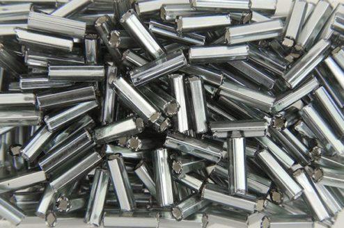 Silver Lined Slate Preciosa Bugle Beads