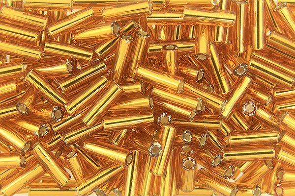 Antique Gold Preciosa Bugle Beads