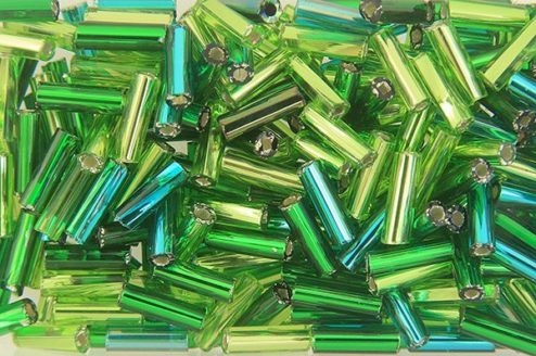 Evergreen Mix Preciosa Bugle Beads