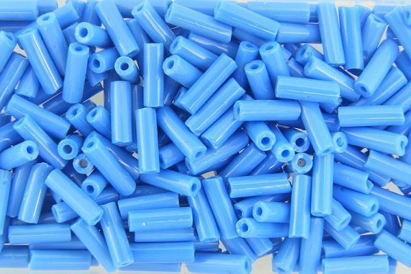 Opaque Cerulean Blue Preciosa Bugle Beads