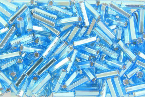 Silver Lined Sky Blue Preciosa Bugle Beads