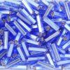Silver Lined French Blue Preciosa Bugle Beads