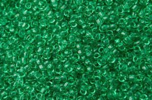 Transparent Beach Glass Green Toho Seed Beads