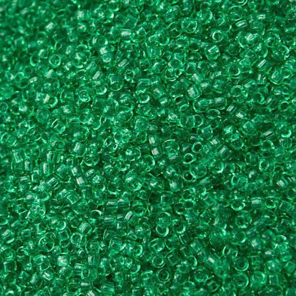 Transparent Beach Glass Green Toho Seed Beads