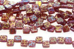 Garnet Stenciled 2-Hole Tile