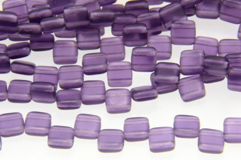 Frosted Purple 2-Hole Tile