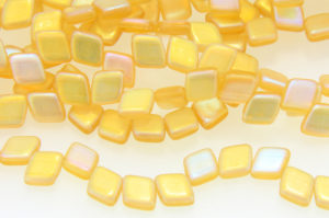 Frosted Gold Slanted 2-Hole Tile