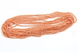 Coral Shimmer Ball Chain