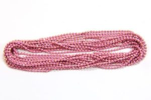 Dusky Pink Shimmer Ball Chain