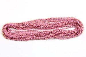 Dusky Pink Shimmer Ball Chain