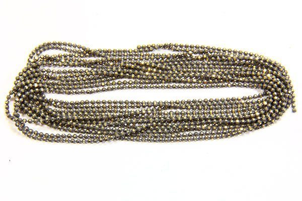 Hematite Shimmer Ball Chain