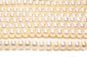 White Demi-Round Pearls