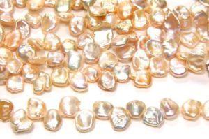 AA Grade Natural Apricot Keshi Pearls