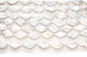 Silver White Diamond Coin Pearls