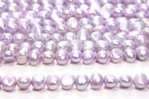 Lilac Nugget Pearls