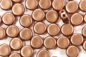 Satin Copper DiscDuo Beads