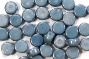 Lustre Opaque Blue DiscDuo Beads