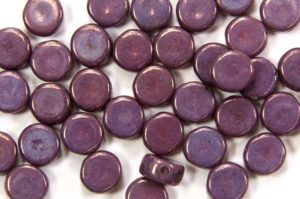 Lustre Opaque Purple DiscDuo Beads