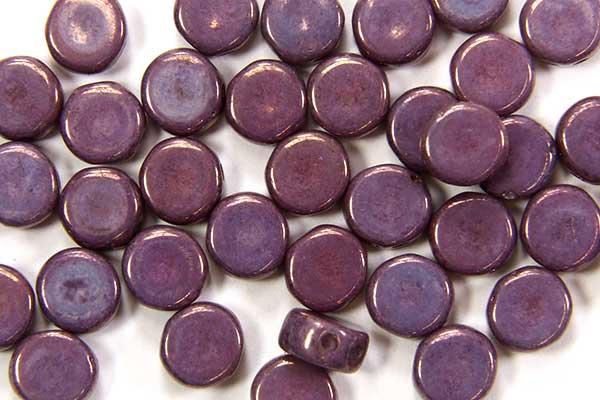 Lustre Opaque Purple DiscDuo Beads