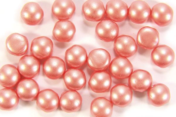 Satin Coral Preciosa Candy Beads